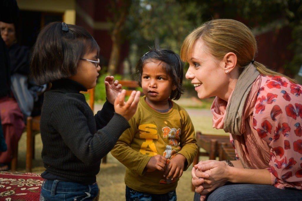 Francine Jordi au Village d'enfants SOS en Inde